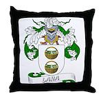 Lara Family Crest Throw Pillow