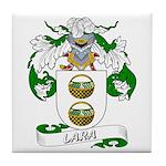 Lara Family Crest Tile Coaster