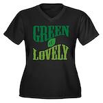 Earth Day : Green & Lovely Women's Plus Size V-Nec