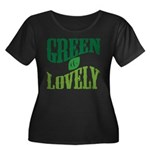 Earth Day : Green & Lovely Women's Plus Size Scoop