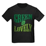Earth Day : Green & Lovely Kids Dark T-Shirt