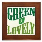 Earth Day : Green & Lovely Framed Tile