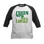 Earth Day : Green & Lovely Kids Baseball Jersey