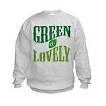 Earth Day : Green & Lovely Kids Sweatshirt