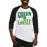 Earth Day : Green & Lovely Baseball Jersey