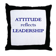 Leadership Attitude Gear Throw Pillow