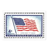 Patriotic Flag Stamp Postcards (Package of 8)