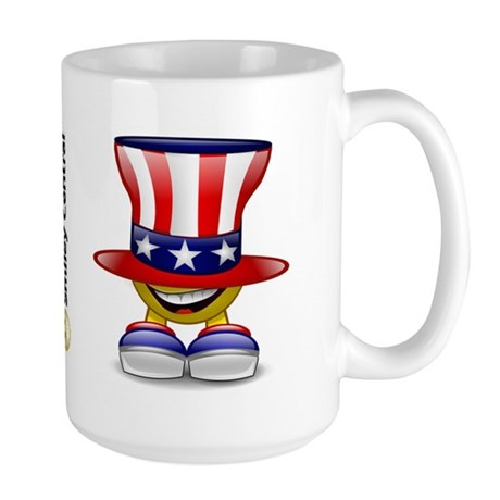 Patriotic Hat Large Mug