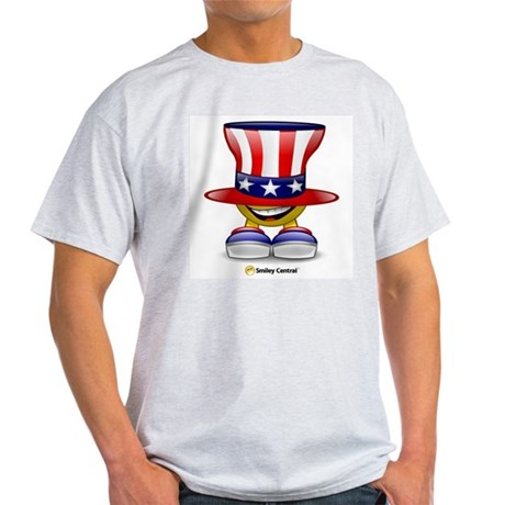 Patriotic Hat Ash Grey T-Shirt