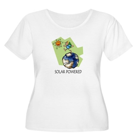 Solar Powered Women's Plus Size Scoop Neck T-Shirt