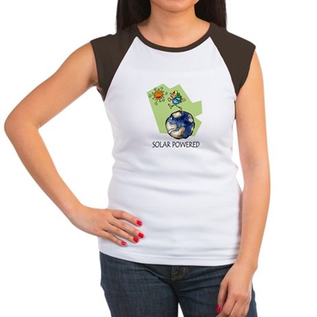Solar Powered Women's Cap Sleeve T-Shirt