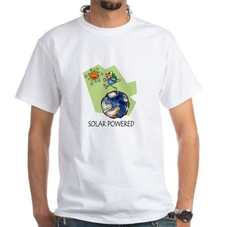 Solar Powered White T-Shirt