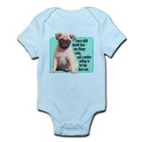 Pug, Child, Mother - Infant Bodysuit