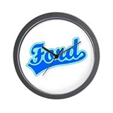Retro Ford (Blue) Wall Clock