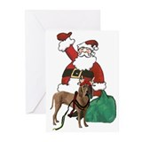 redbone reindeer Greeting Cards (Pk of 20)