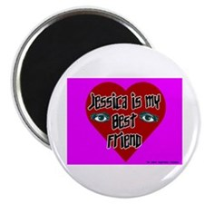 "Jessica Is My Best Friend 2.25"" Magnet (10 pack)"