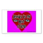 Jessica Is My Best Friend Rectangle Sticker