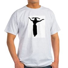 Sword Balance Head Silhouette Ash Grey T-Shirt