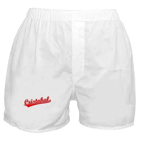 Retro Cristobal (Red) Boxer Shorts