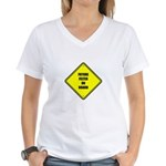 Baby On Board - Future Felter Women's V-Neck T-Shi