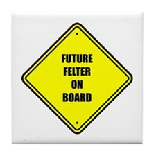 Baby On Board - Future Felter Tile Coaster