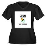 Future Felter On Board Women's Plus Size V-Neck Da