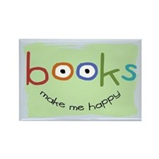 Books Make Me Happy Rectangle Magnet (10 pack)