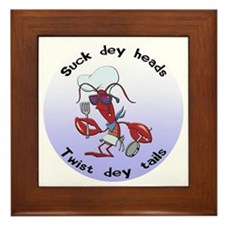 Cajun Crawfish Framed Tile