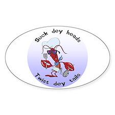 Cajun Crawfish Oval Sticker