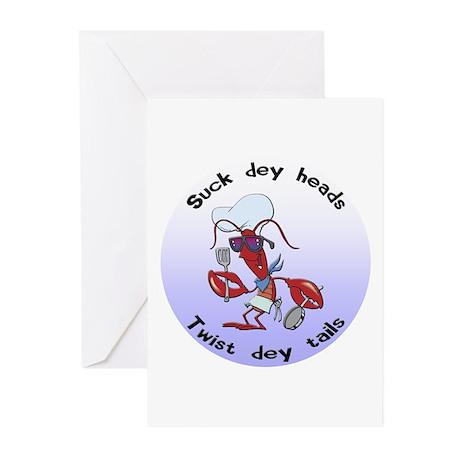 Cajun Crawfish Greeting Cards (Pk of 10)