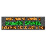 Just a Dog Clumber Bumper Bumper Sticker