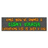 Just a Dog Cesky Terrier Bumper Bumper Sticker