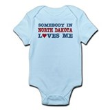 Somebody in North Dakota Loves Me Infant Bodysuit