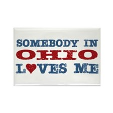 Somebody in Ohio Loves Me Rectangle Magnet