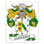 Llorente Family Crest Small Poster
