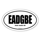 EADGBE Guitar Bumper Stickers