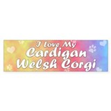 Pastel Love Cardigan Welsh Corgi Bumper Bumper Sticker