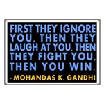 First They Ignore You Gandhi Banner