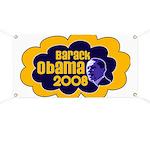 Barack Obama Blue & Orange Banner