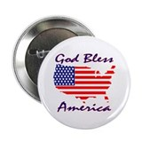 God Bless America Button