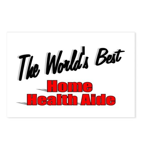 """The World's Best Home Health Aide"" Postcards (Pac"