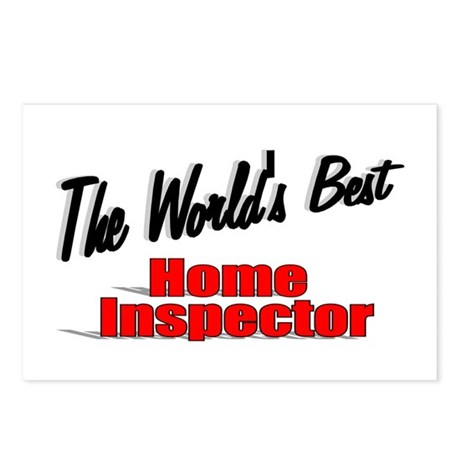 """The World's Best Home Inspector"" Postcards (Packa"
