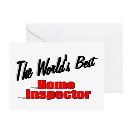 """The World's Best Home Inspector"" Greeting Cards ("