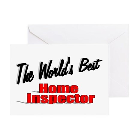 """The World's Best Home Inspector"" Greeting Card"