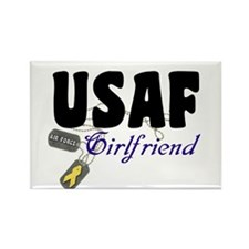 USAF Girlfriend Rectangle Magnet