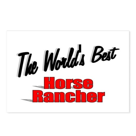 """The World's Best Horse Rancher"" Postcards (Packag"