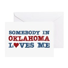 Somebody in Oklahoma Loves Me Greeting Card
