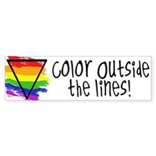 Color Outside the Lines Bumper Bumper Sticker