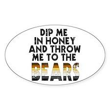 Honey Oval Bumper Stickers