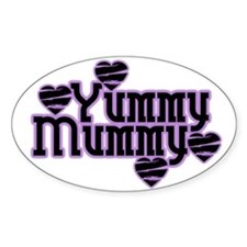 Purple Yummy Mummy Oval Decal